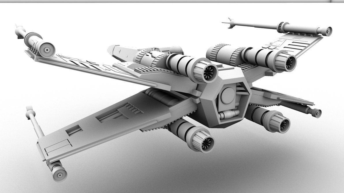 X Wing X Wing Fighter Back View