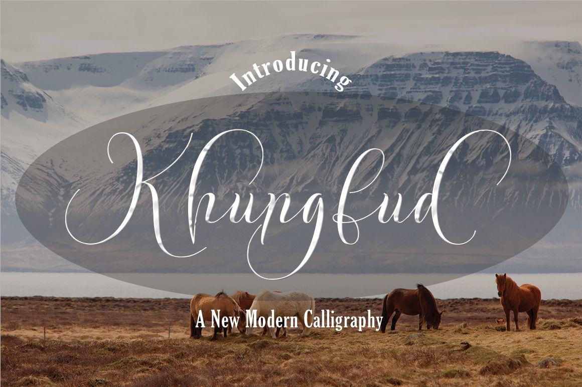 Khungfud Font By Naldystudio Best Script Fonts Free Fonts