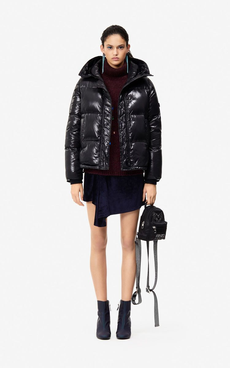 7922a63237 BLACK Quilted down jacket 'Holiday Capsule' for women KENZO | AW20 ...