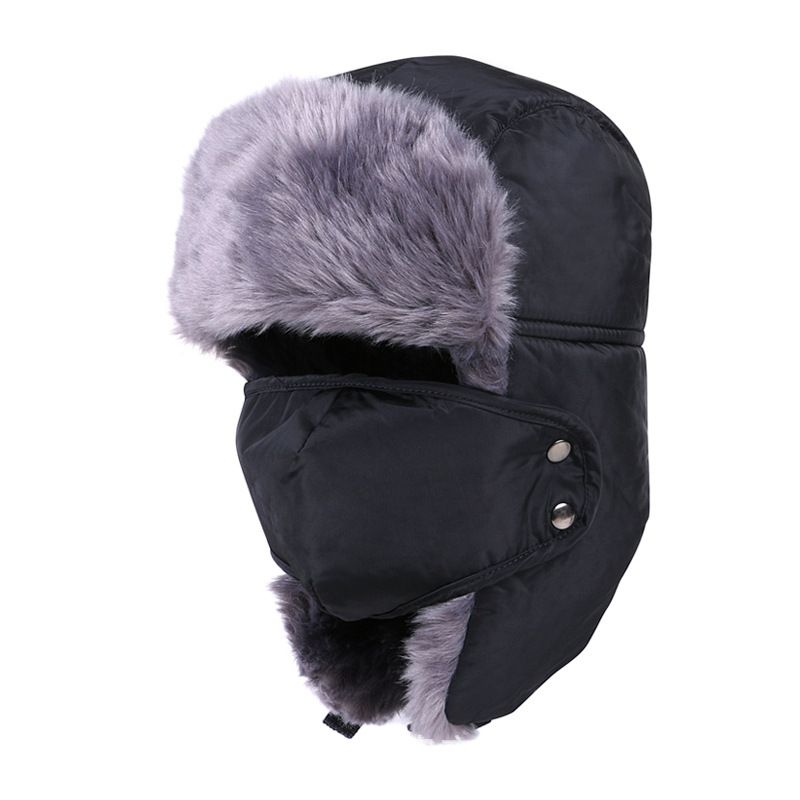 a27af6ed022 Winter Hat Bomber Hats For Men Women Outdoor Thickening Cotton Fur Winter  Earflap Keep Warm Snow