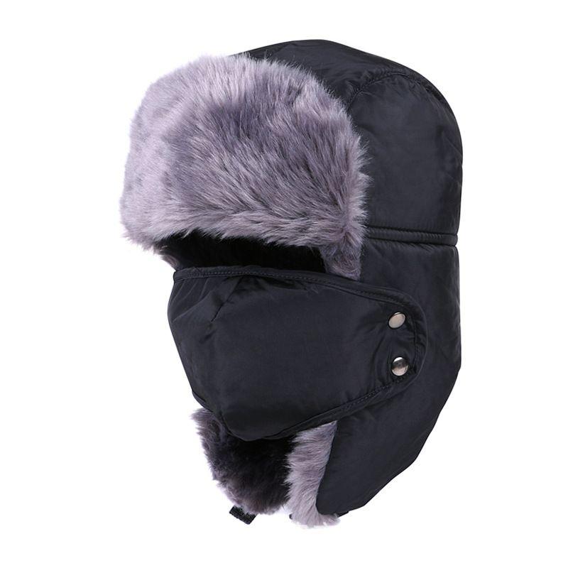 5e24e5d43de Winter Bomber Hats For Men Women Outdoor Thickening Cotton Fur Winter  Earflap Keep Warm Snow Caps