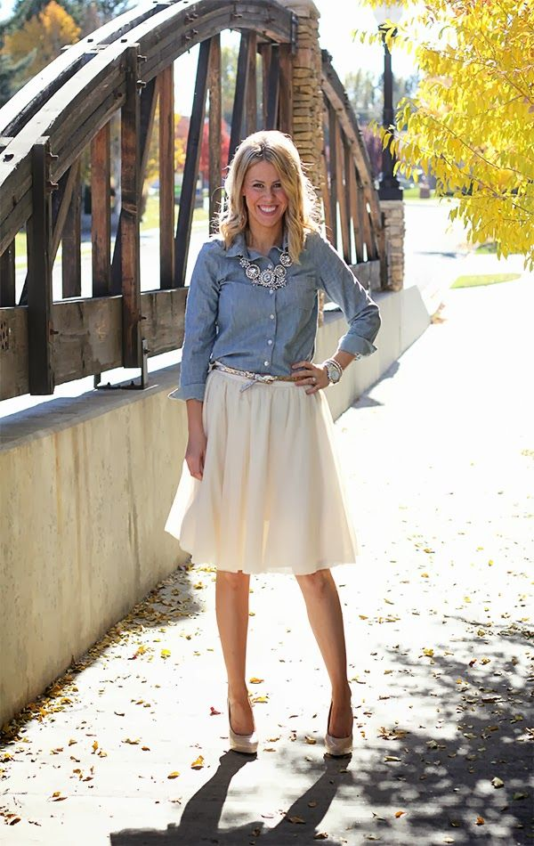 Perfection Possibilities: Chambray + Tulle