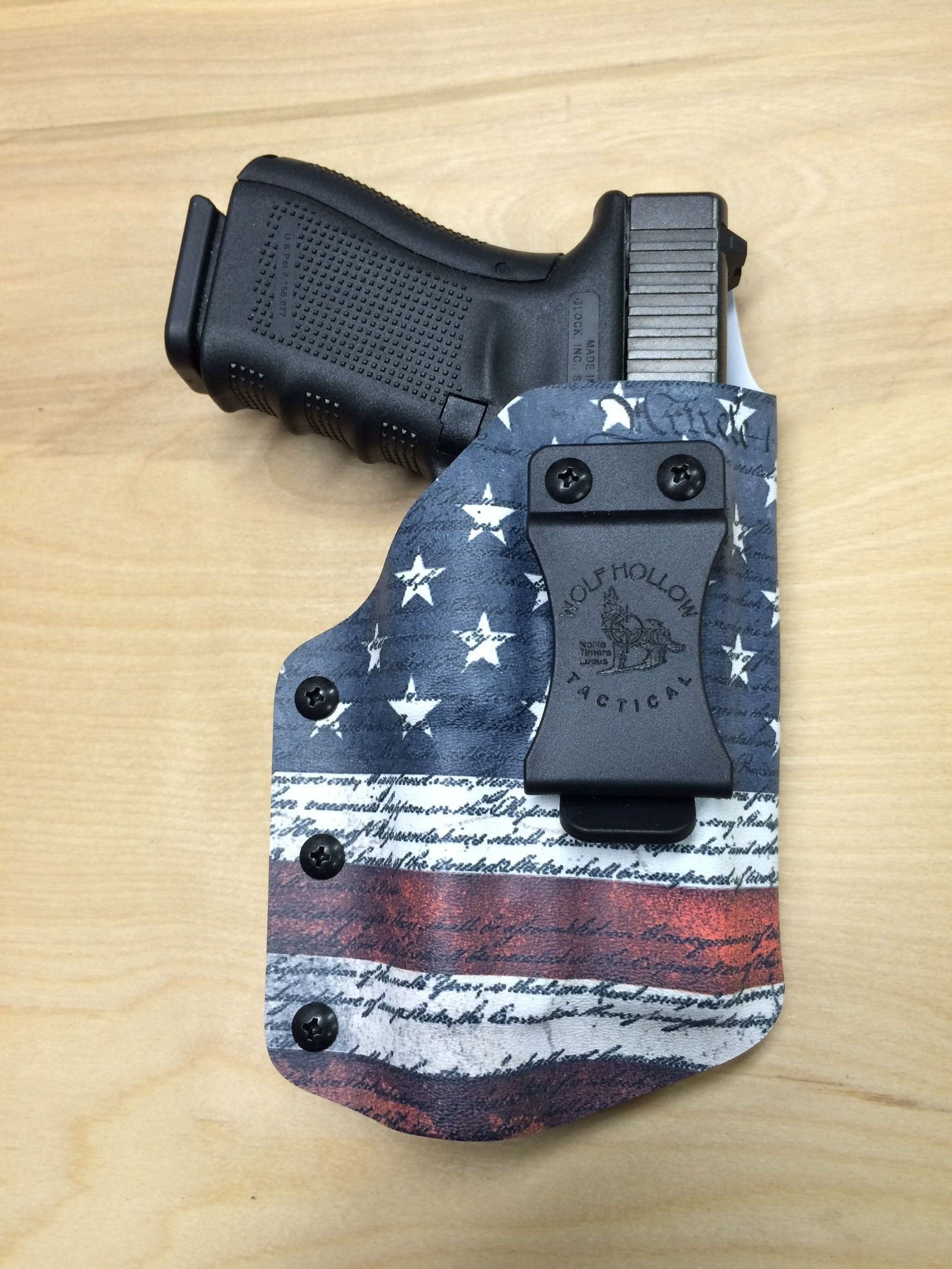 Glock 19 with TLR-1HL IWB holster with constitution American