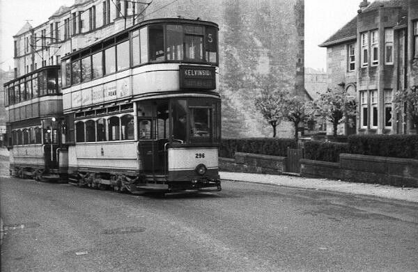 Image result for glasgow trams 1950