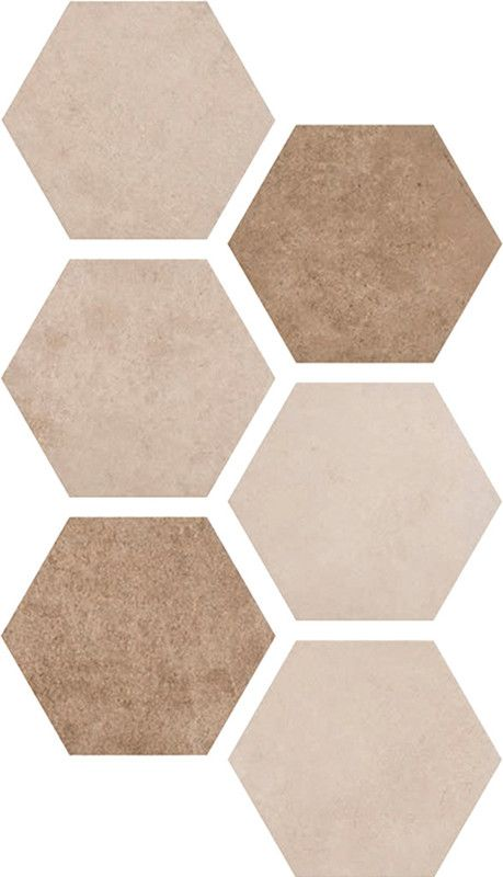Atlast Collection HEXAGON MULTI WARM X Bathroom Ideas - Ceramic tile stores portland oregon