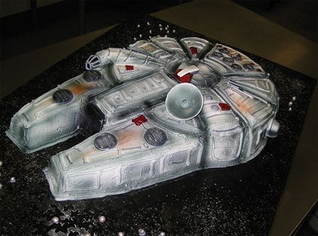 Happy Birthday Chewbacca, hey Star Wars fans, check this cool Millennium Falcon cake