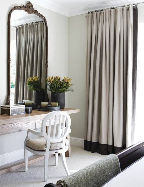 Dresser For Main Bedroom Modern Eclectic Vintage Mix Simple Storage Neutral Curtain With Dark Trim