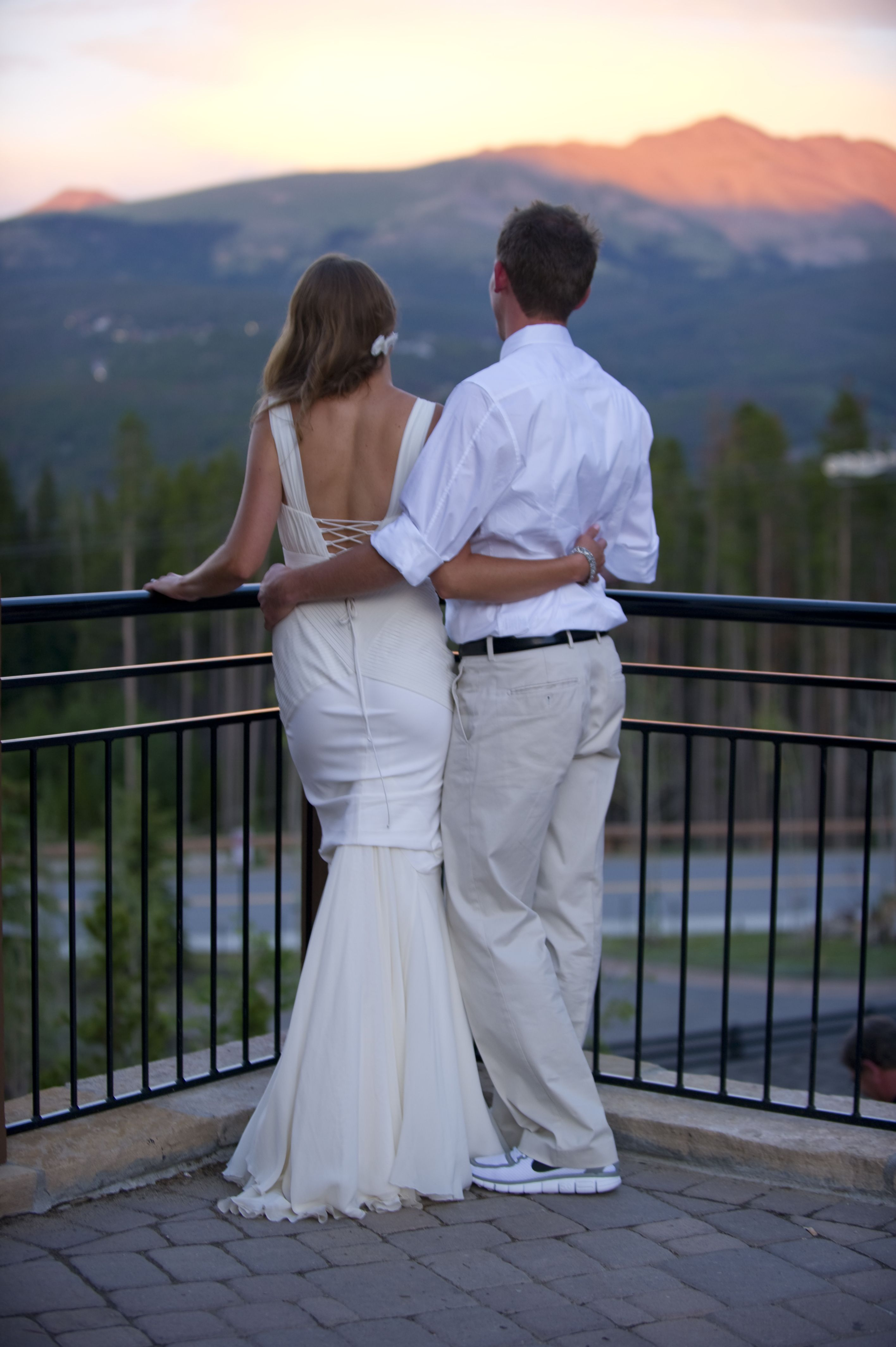Patio view at Sevens, a wedding venue in Breckenridge