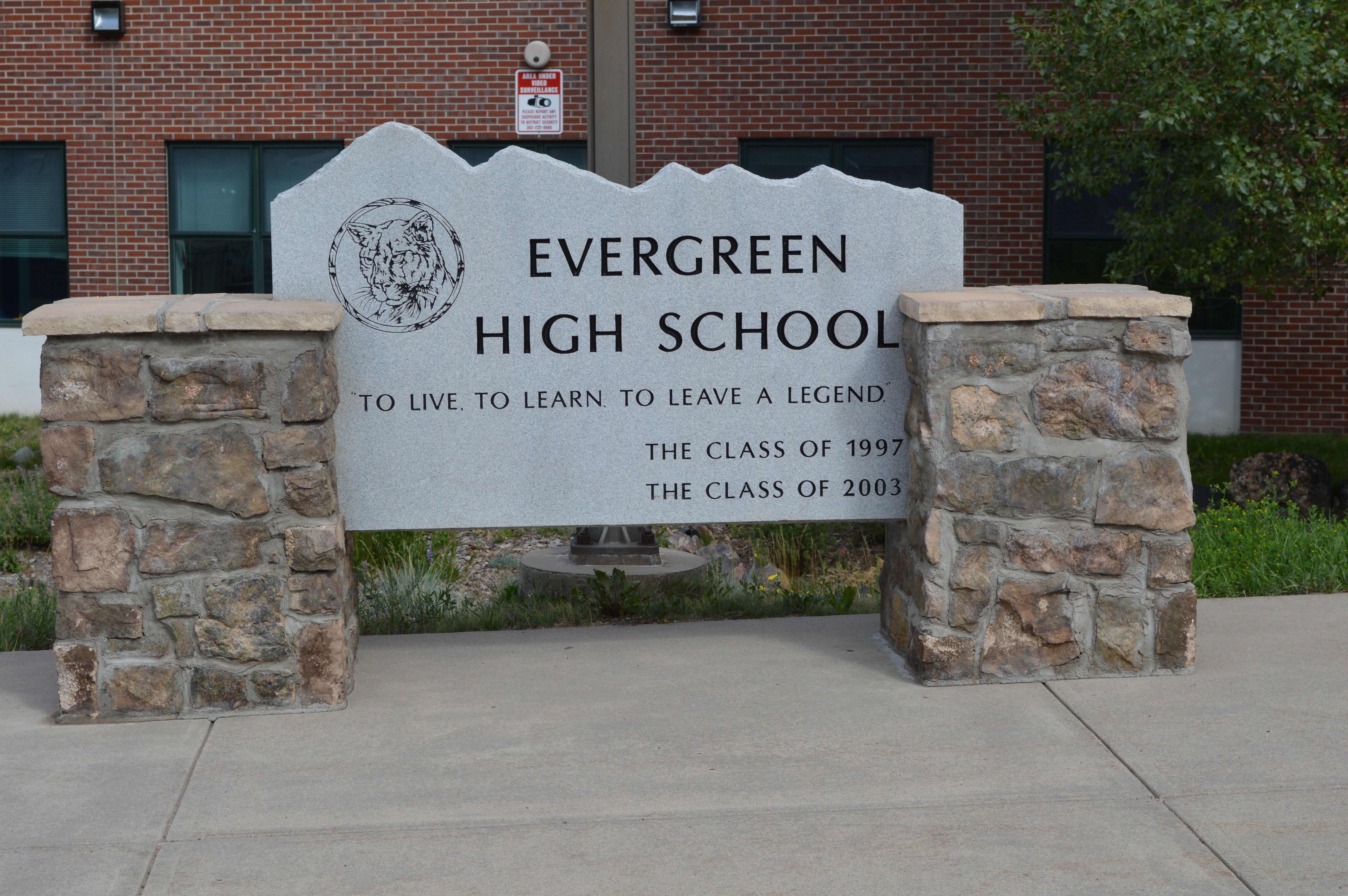 Evergreen High School Evergreen Colorado Evergreen