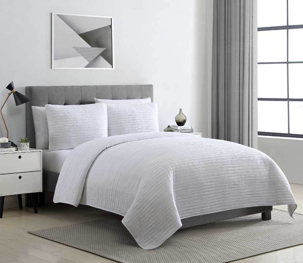 vcny home richmond solid textured stripe twintwinxl