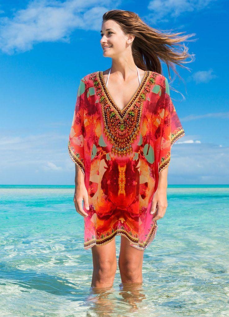 ea20ad0be9 Maldives silk kaftan in 2019 | Outfit | Kaftan, Silk kaftan, Silk