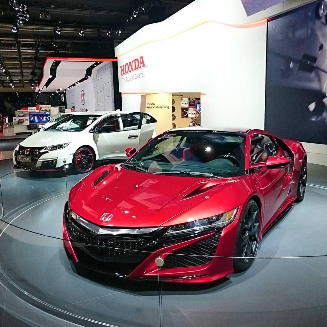 Honda NSX And Civic Type R #Honda #NSX #Civic #TypeR