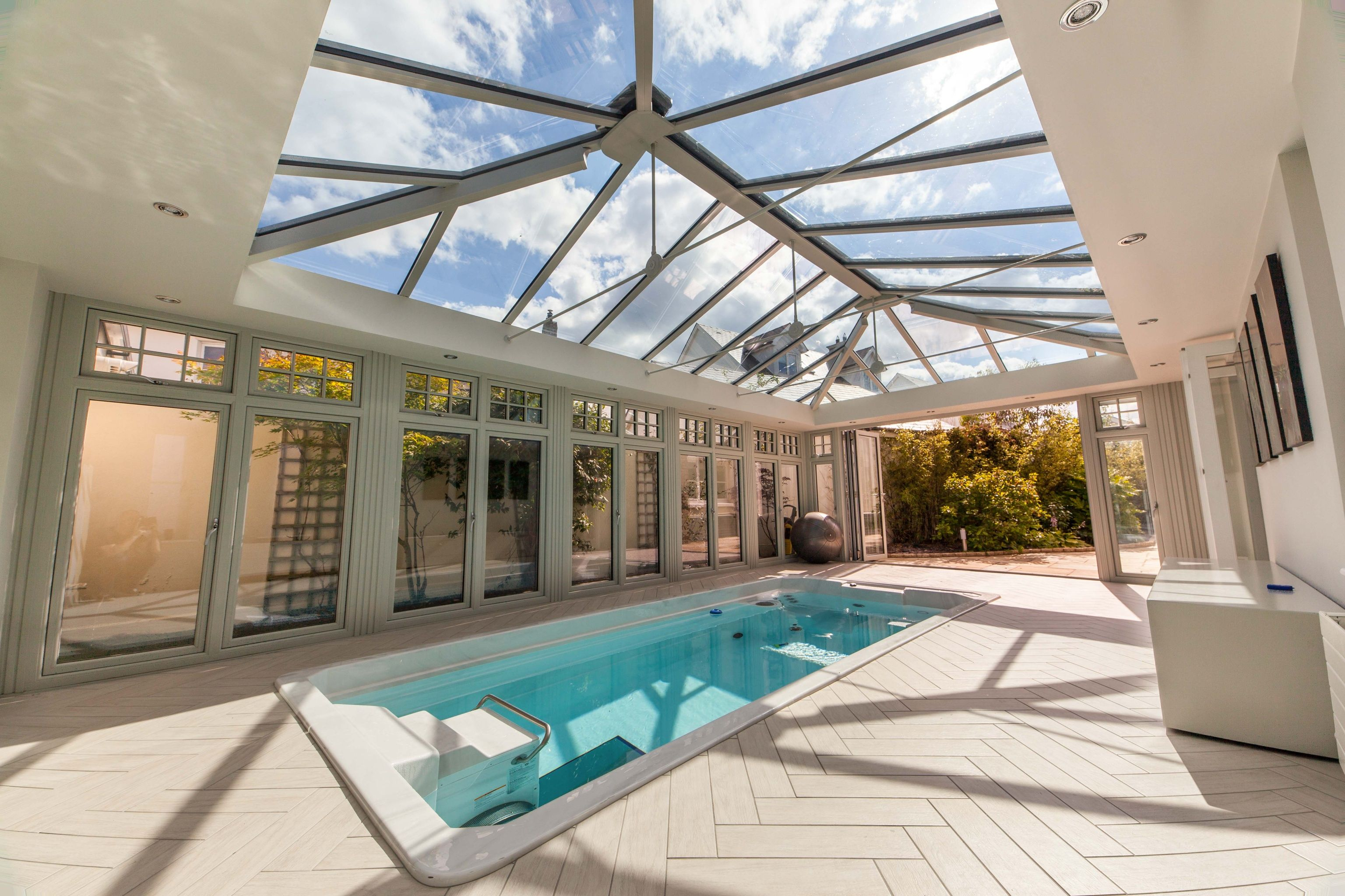 Photo 3 Of 5 Featuring The Endless Pool Swim Spa In A Beautiful Glass Conservatory Build Your Own Swim S Endless Pool Indoor Swimming Pool Design Pool Houses