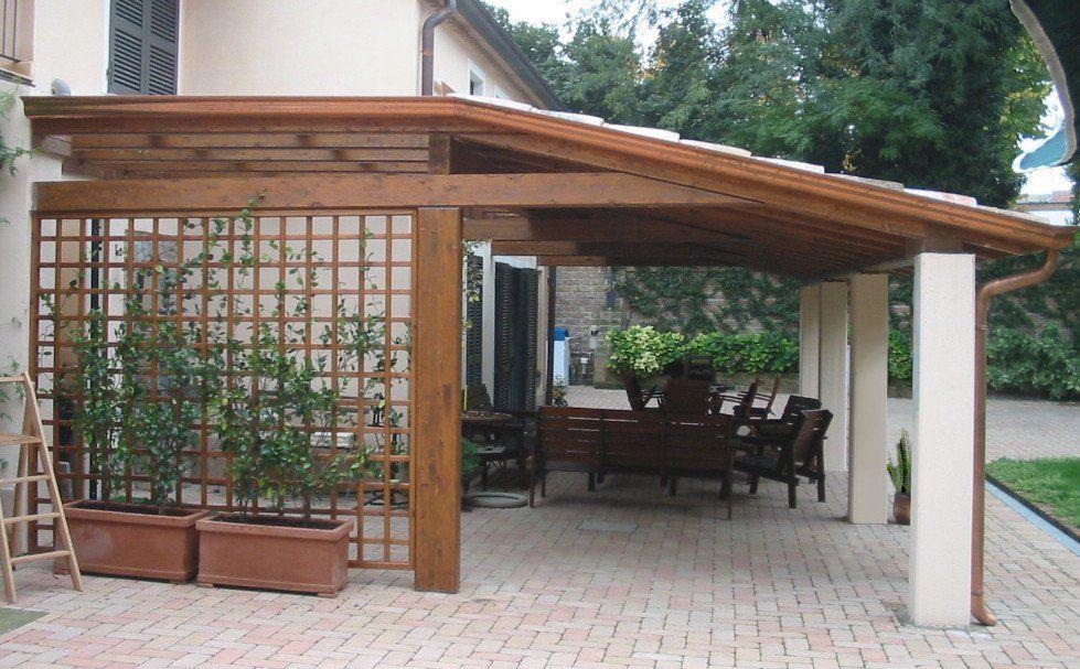 portici & gazebo - grigliati in legno da giardino | portico ... - Legno Kit Gazebo Rettangolare