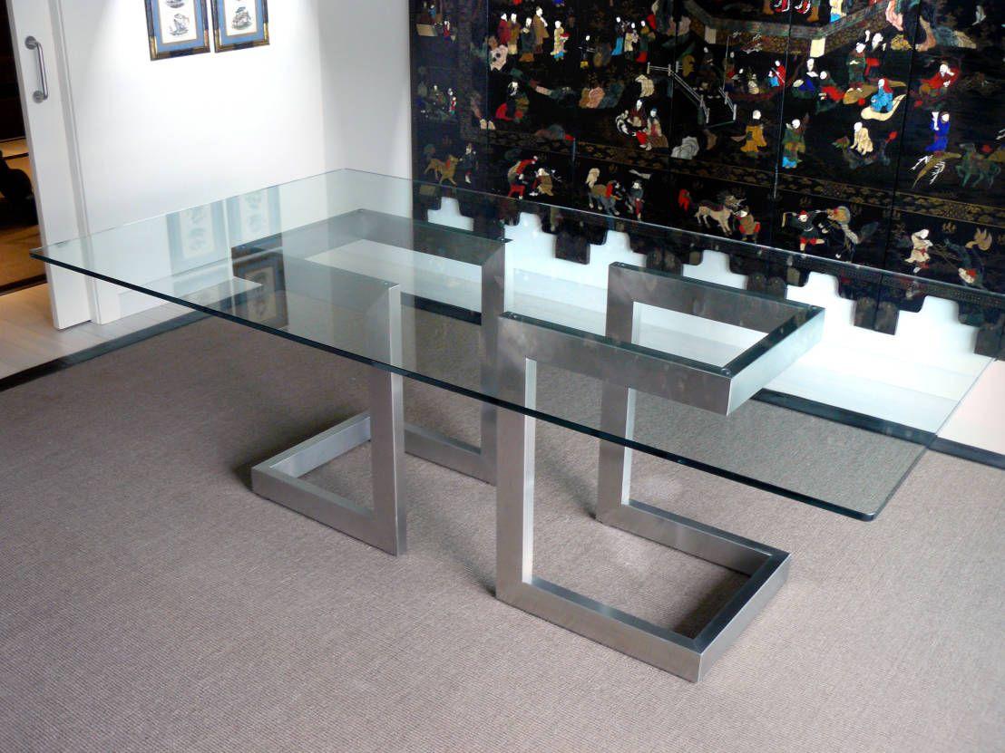 L nea alto dise o mesas de comedor de gonzalo de salas for Diseno de mesa de madera con vidrio