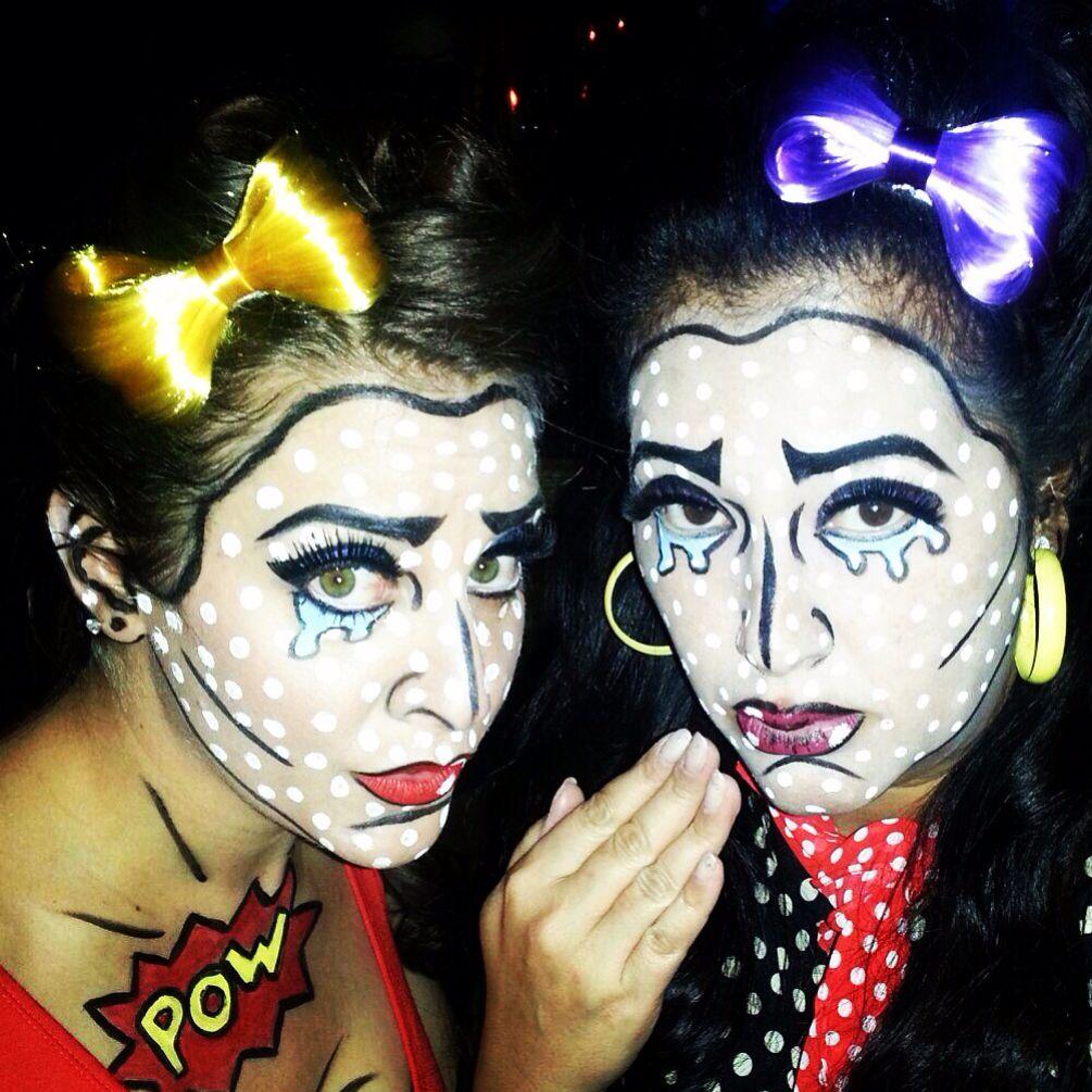 Pop art comic book Halloween makeup | Halloween | Pinterest ...