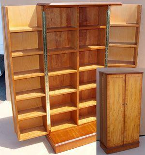 Fold Out Blu-Ray Storage Cabinet in Yew | Organization Ideas ...