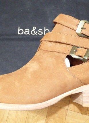À vendre sur #vintedfrance ! http://www.vinted.fr/chaussures-femmes/bottines/54842955-boots-en-cuir-marron-bash-taille-41