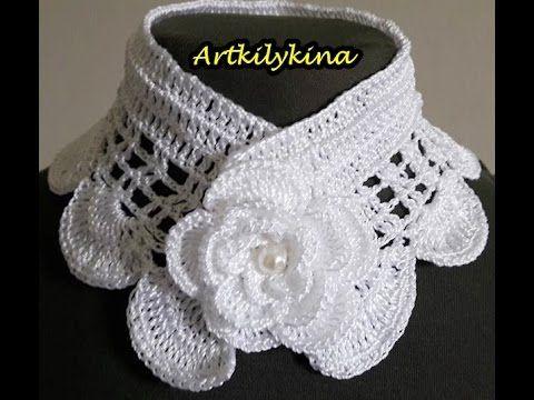 Gola de Crochê - YouTube | Tricot et crochet | Pinterest | Stirnband ...
