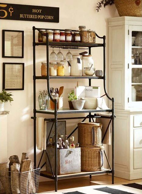 Would Like This For By The Door Iron Furniture Bakers Rack