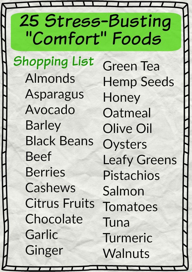 25 stress busting comfort foods a healthy shopping list