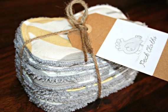 Make up pads  100 cotton  Grey/Cream/Gold by peckcloths on Etsy, $15.00