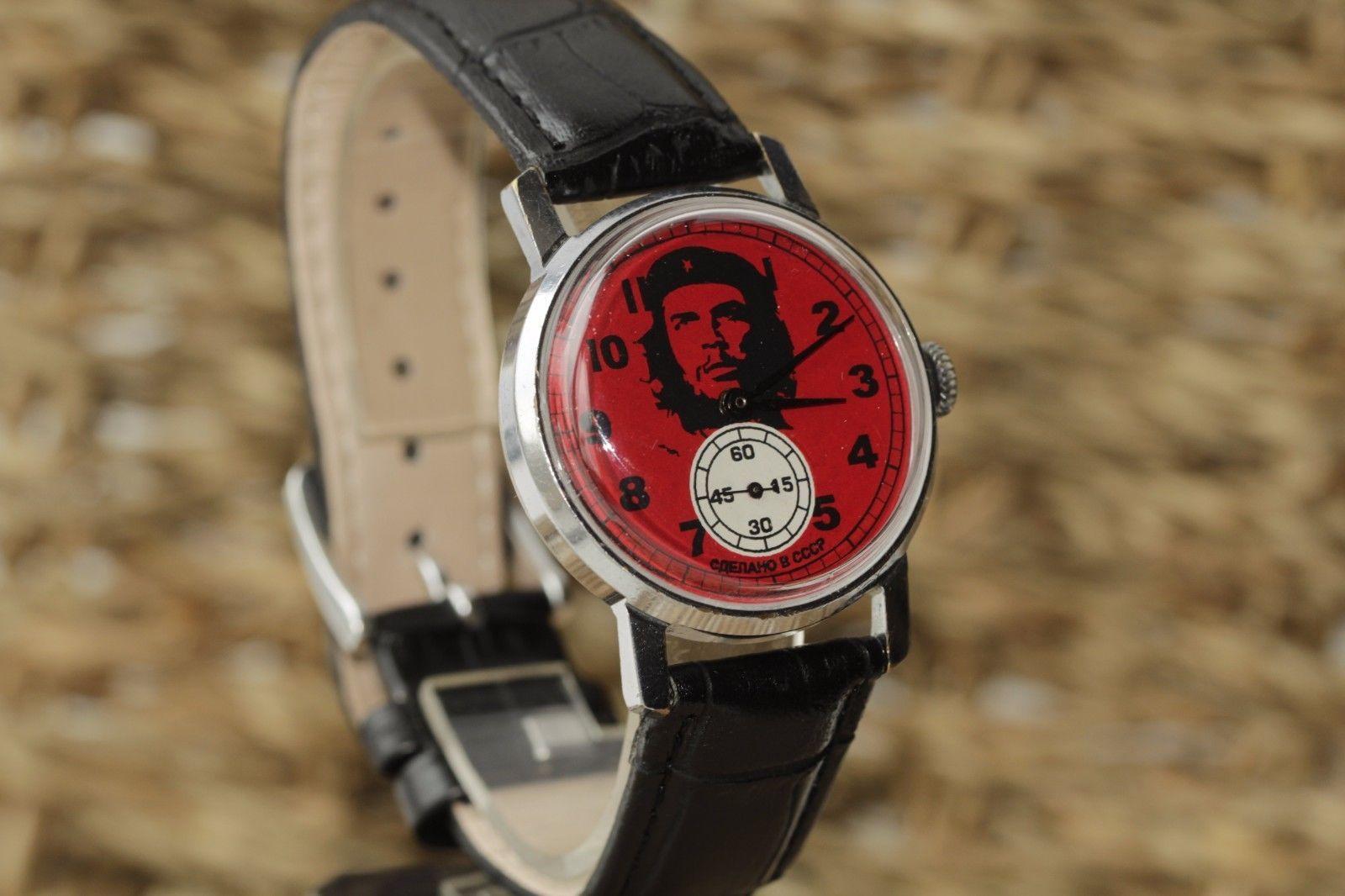"Wristwatch Pobeda ""Che Guevara"" Men&39;s made in USSR /V   eBay   Wrist watch, Leather watch, Men"