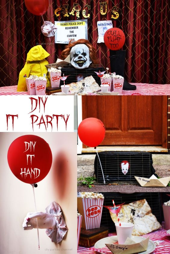 DIY IT Movie Pennywise Party Halloween party decor