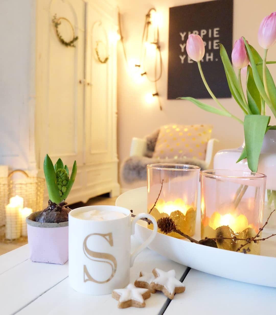 Fruhling Dekoration Wohnzimmer Interior Kaffee Deko Im Januar In