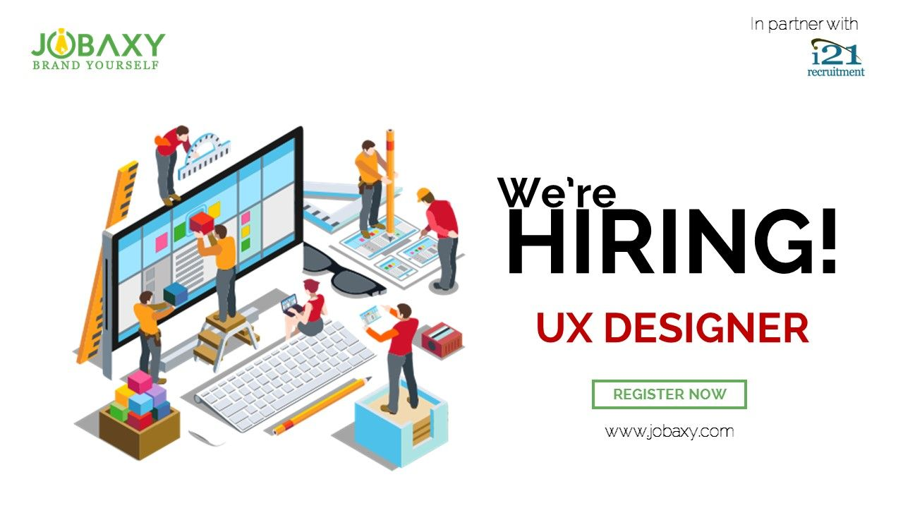 Attention we are looking for ux designer register now