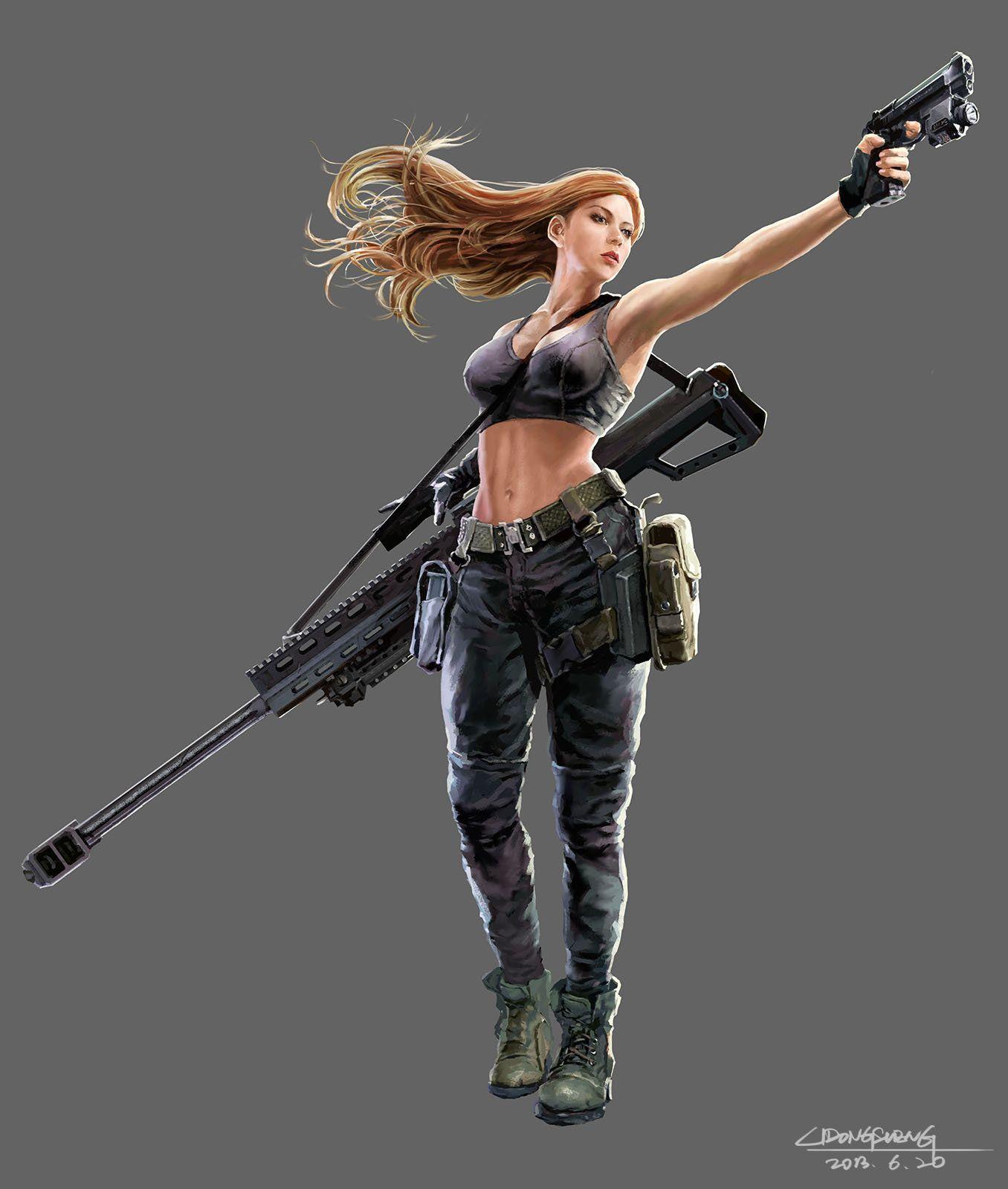 Sniper Dongsheng Li Sniper Art Warrior Woman Sniper Girl