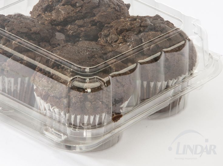 Clear plastic cupcake containers muffin packaging and