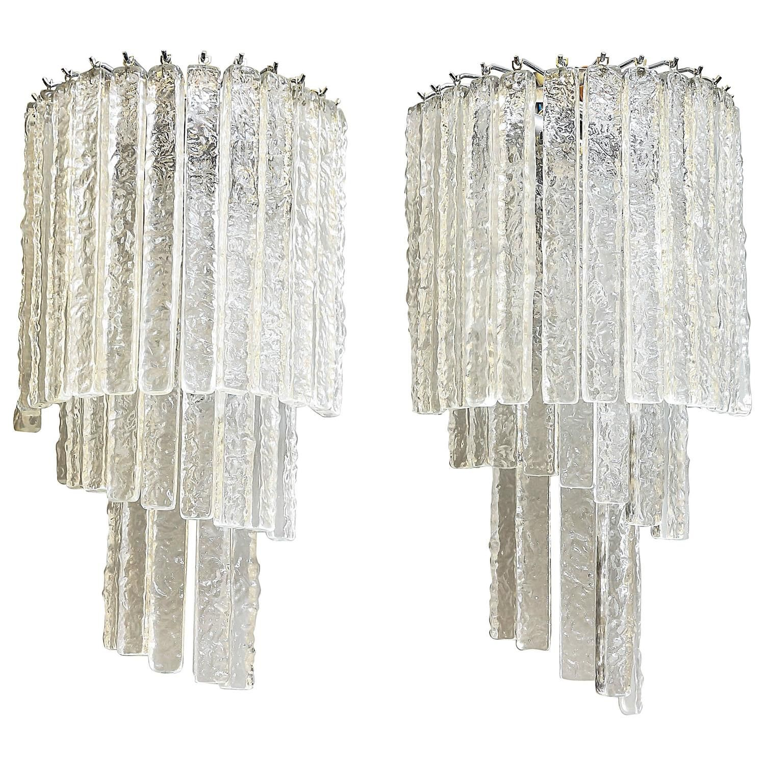 Pair Of Mid Century Murano Glass Wall Sconces From A Unique Collection Of Antique And Modern Wall Lights And Sconces At Https Www 1stdibs Com Furniture Ligh