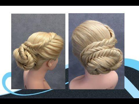 Opsteken met vlechten, updo with braids - YouTube