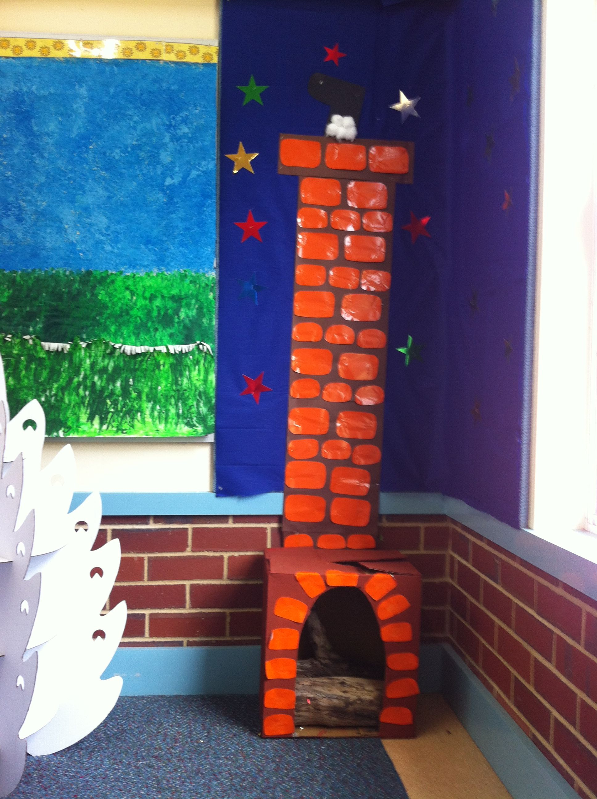 Photo of santa Christmas…  home corner dramatic play area for classroom-  children make…