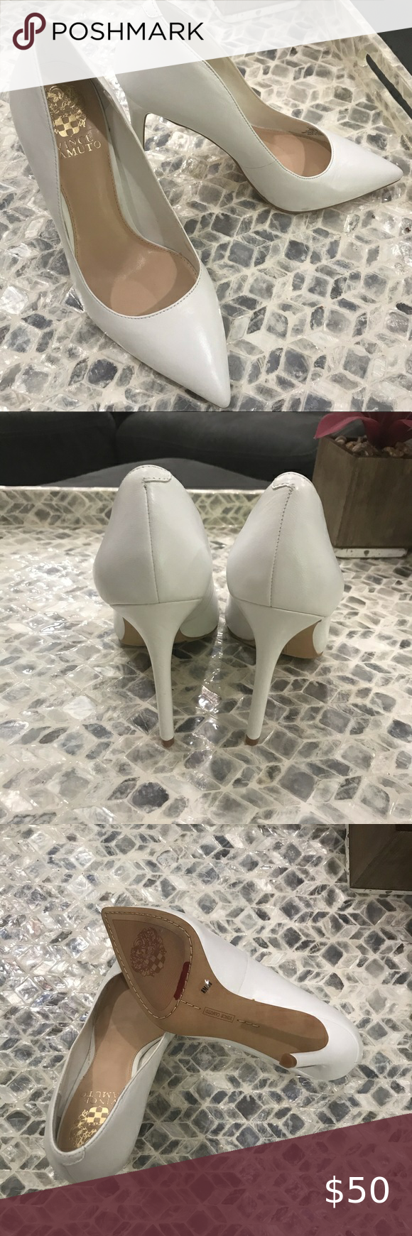 Vince Camuto white pumps size 8 in 2020