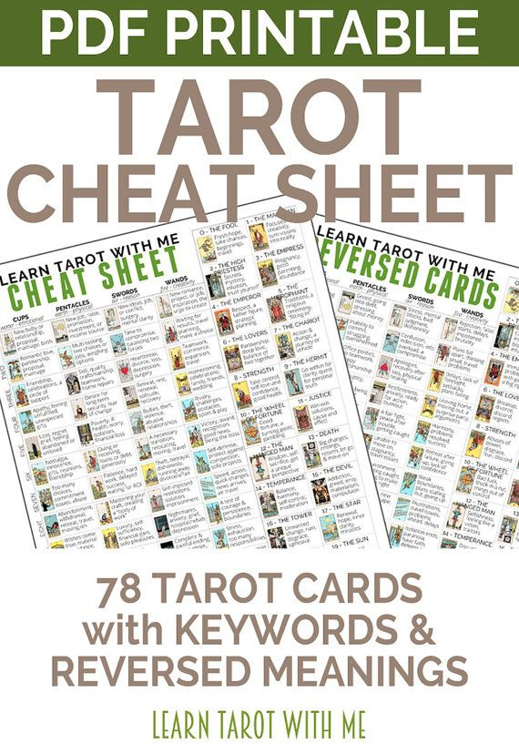graphic relating to Free Printable Tarot Cheat Sheet identify rider waite tarot card meanings pdf