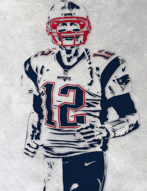Tom Brady New England Patriots Pixel Art 5 Art Print By Joe Hamilton New England Patriots England Sports Tom Brady