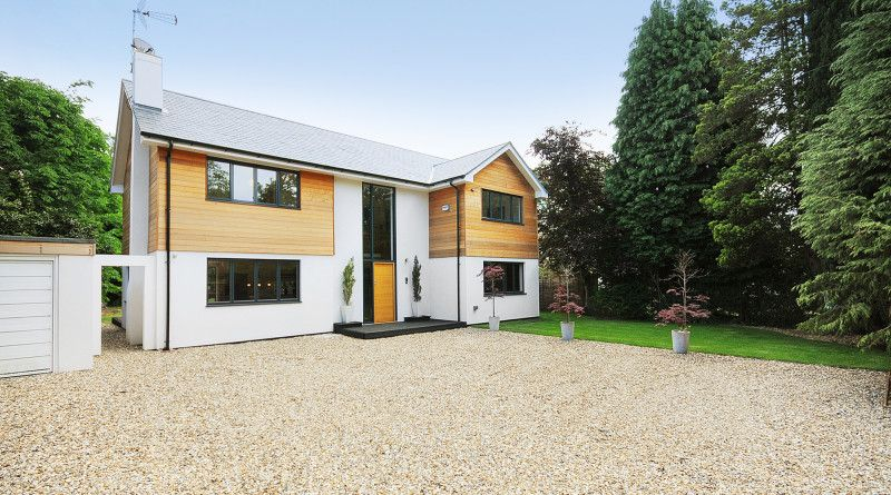 Conversion Of Bungalow To Two Storey House Hampshire House Exterior Exterior House Remodel House Cladding