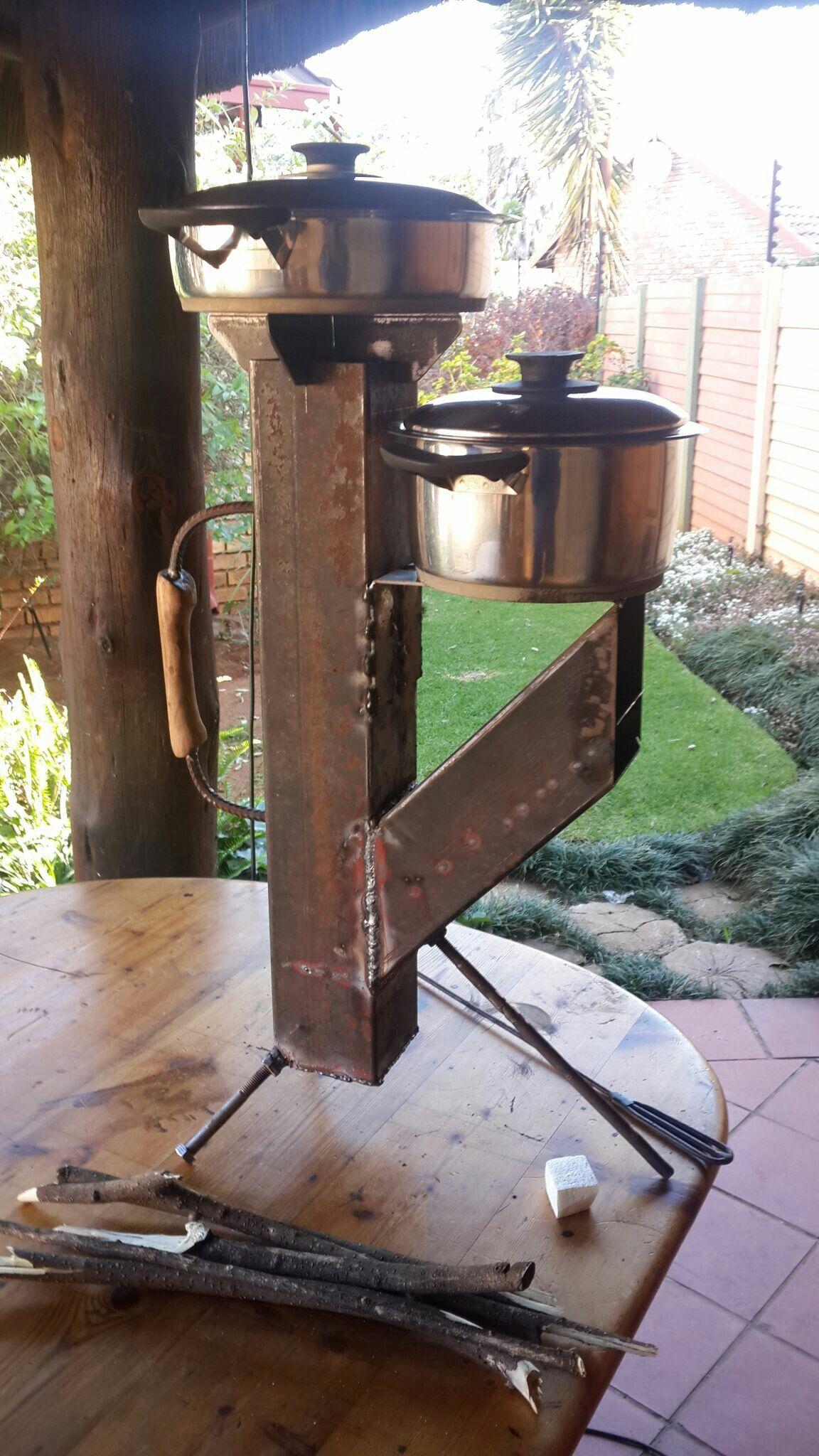 Best rocket stove design main stove plus 200mm hotplate for Best design