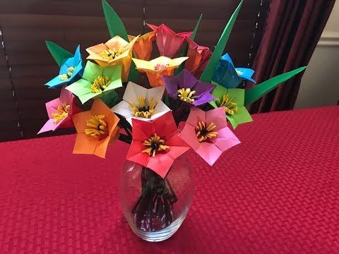 Photo of How to make paper flower bouquet – Origami Mother's day gift