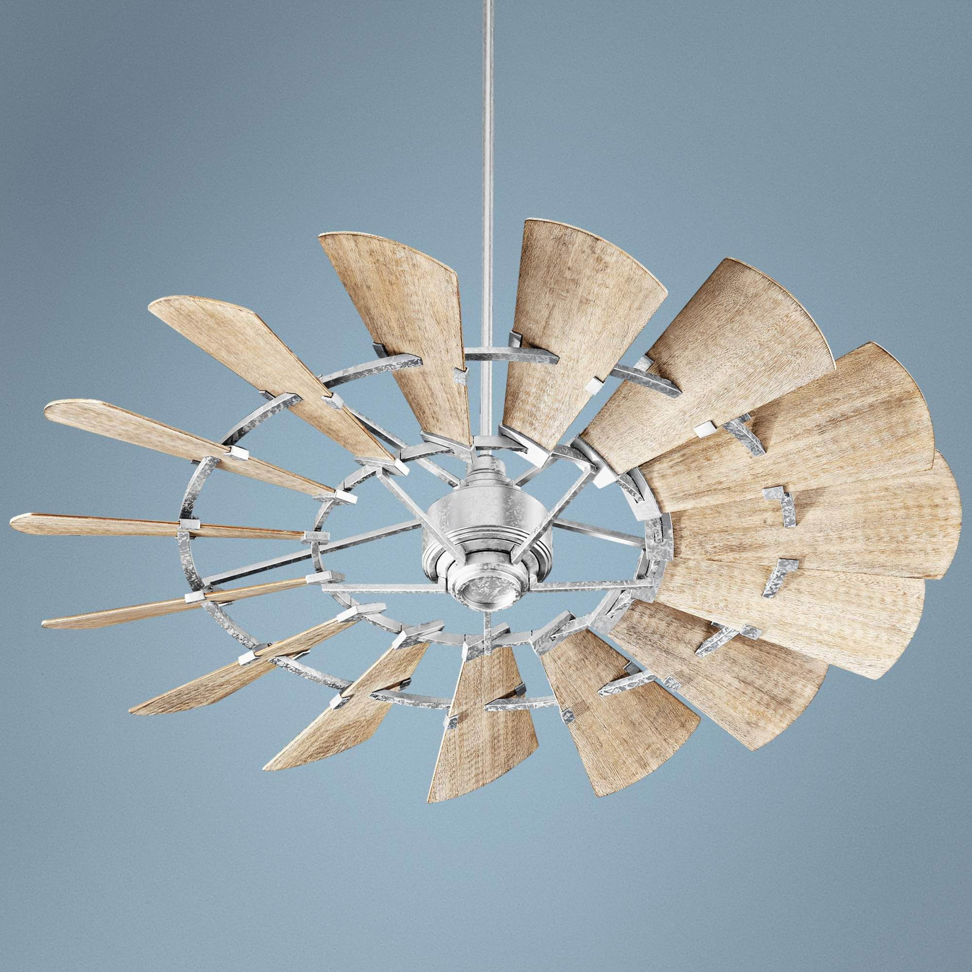 "60"" Quorum Windmill Galvanized Ceiling Fan 1T281"