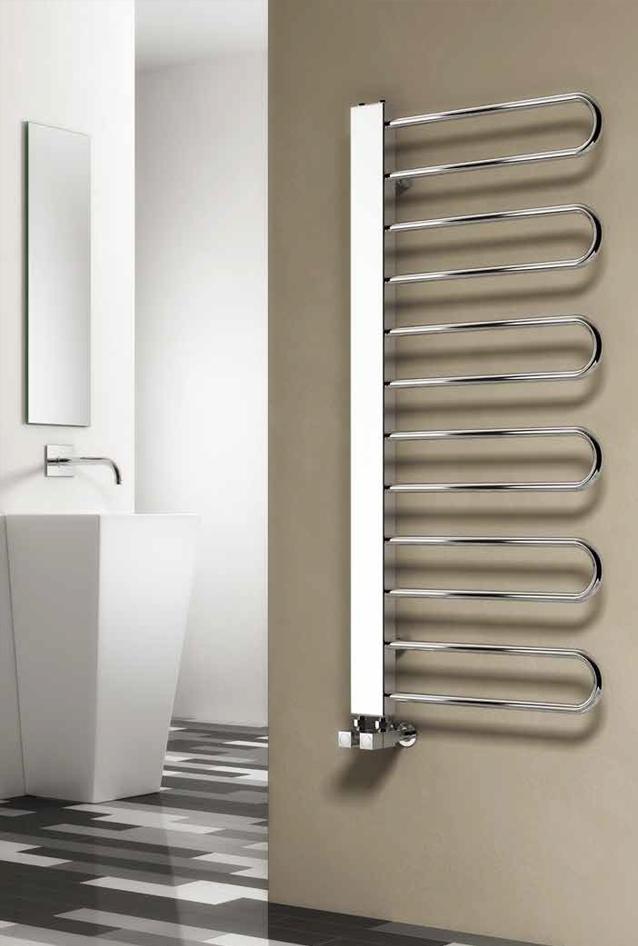 Reina Designer Larino Vertical Chrome Heated Towel Rail Steel Enchanting Designer Heated Towel Rails For Bathrooms Design Inspiration