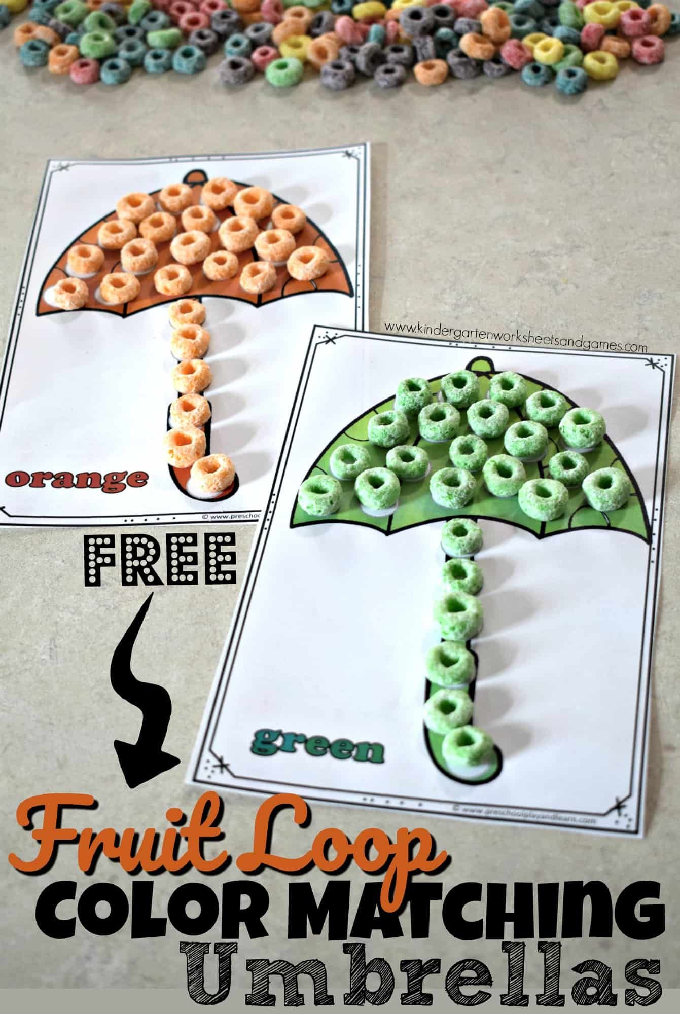 Free Fruit Loop Color Matching Umbrellas