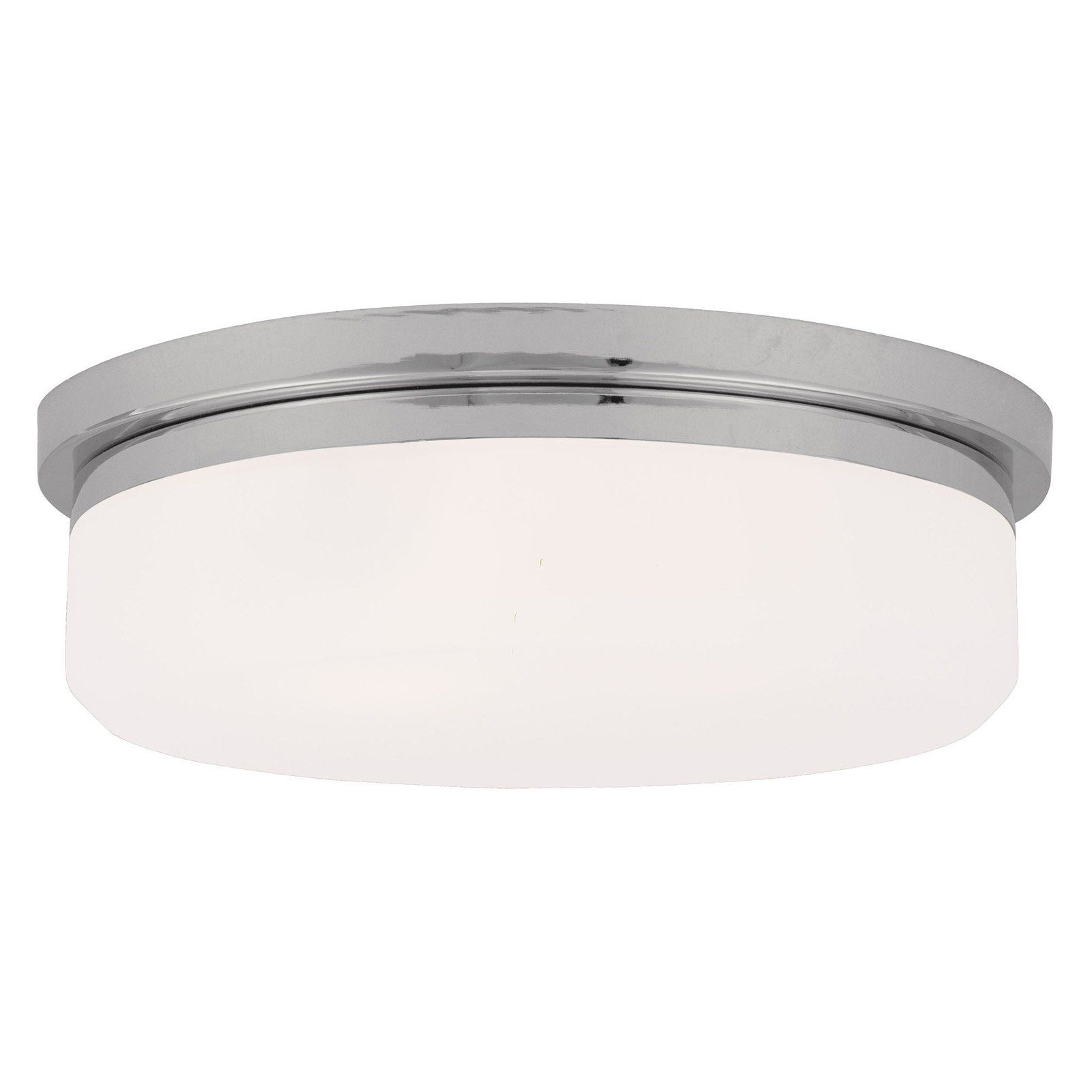 Livex Stratus 7393 05 3 Light Ceiling or Wall Mount in Chrome 7393