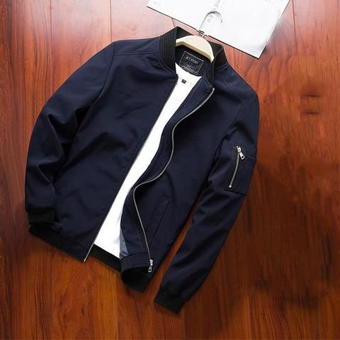219f8a4bc30e NaranjaSabor Spring New Men's Bomber Zipper Jacket Male Casual Street –  menhill