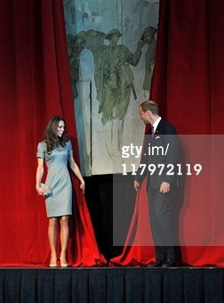 July 2, 2011 - Catherine, Duchess of Cambridge and Prince William, Duke of Cambridge unveil a mural by Augustus John at the Candian War Muesum in Ottawa, Canada.