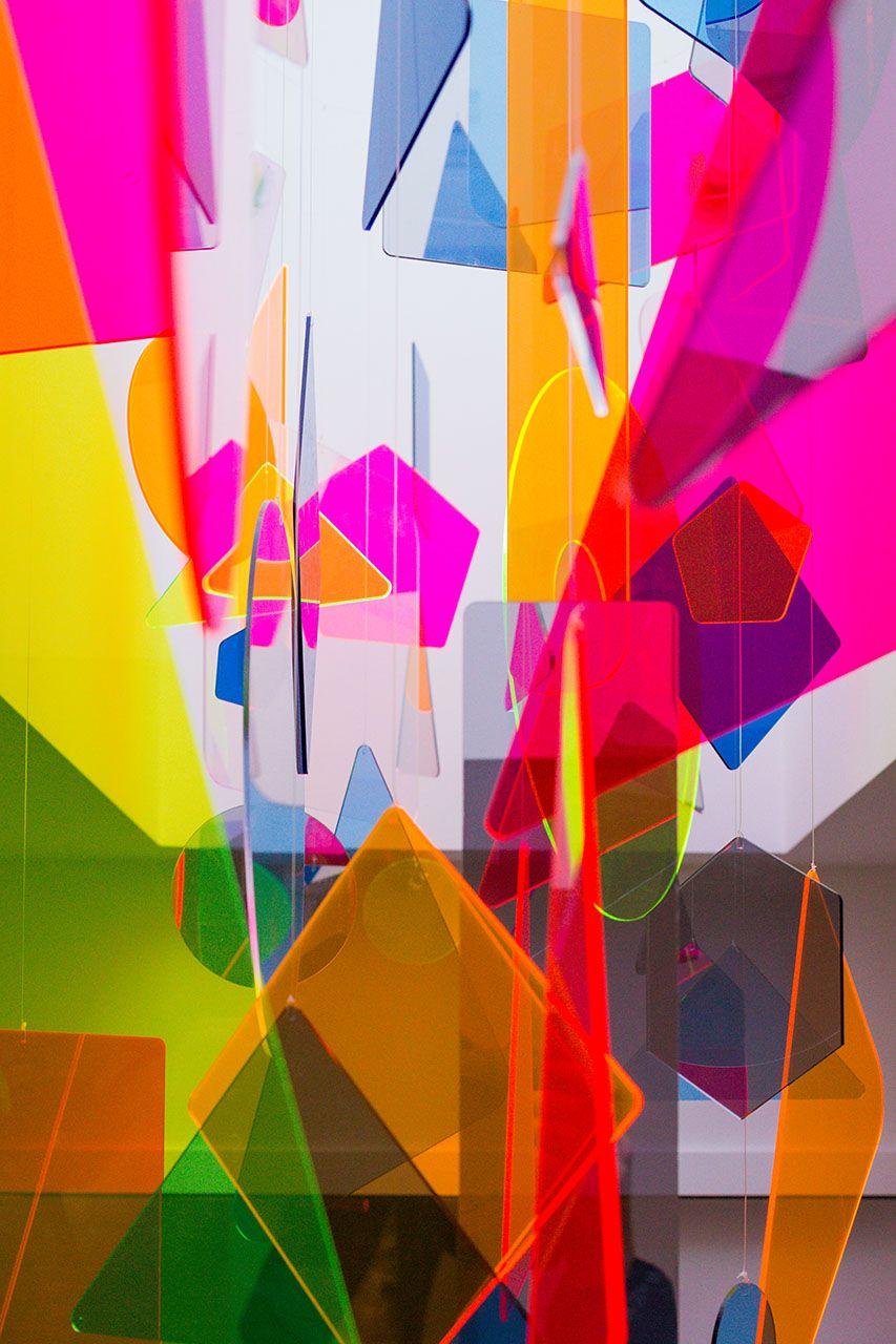 Plexiglas Mobile In Skyight Suspended Art Neon Art Environmental Art