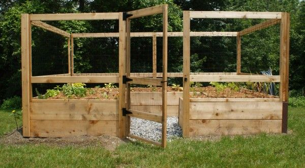 8x12 just add lumber vegetable garden deer proof
