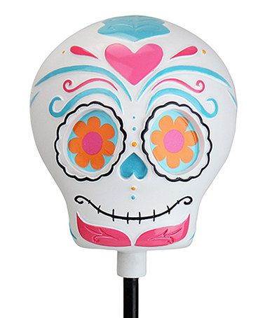 Another great find on #zulily! Pink Solar Sugar Skull Garden Stake #zulilyfinds